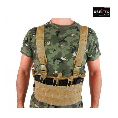 CHALECO CHEST RIG BÁSICO COYOTE OSLOTEX